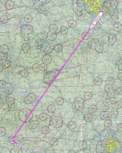 Route from St. Louis to Petit-Jean